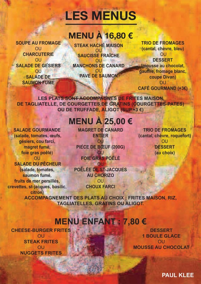 Nos cartes le divan bar restaurant rue b teille rodez for Divan restaurant menu
